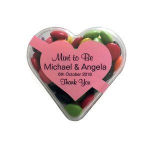 Acrylic Heart - Choc Beans